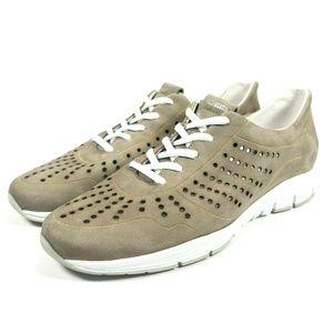 Mephisto Yliane Gray Leather Sneakers